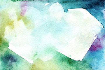 Watercolor green gradient background