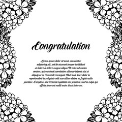 Congratulation floral design greeting card vector illustration