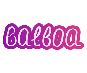 Dance balboa. Music Vector illustration. Lettering symbol