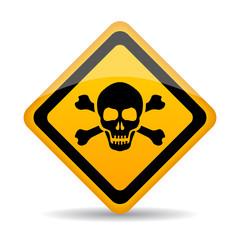 Skull danger vector sign