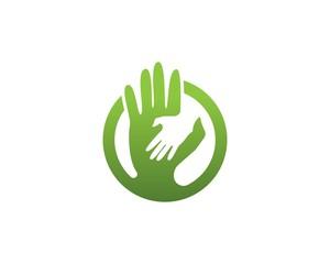 Hands Help logos and symbol vector