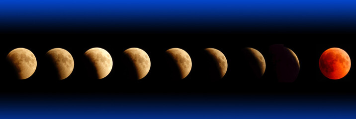Panoramic lunar eclipse July 27, 2018