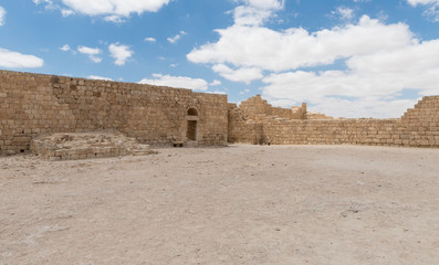 The central  fortress courtyard of the Nabataean city of Avdat, located on the incense road in the Judean desert in Israel. It is included in the UNESCO World Heritage List.