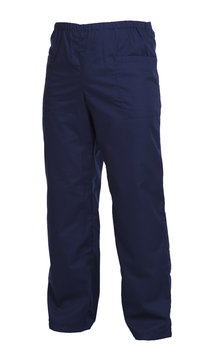 Protective working trousers isolated on white background