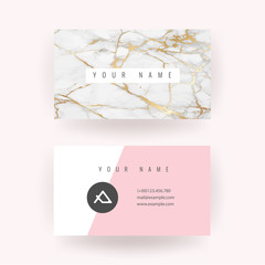 Luxury Marble VIP Business Card Vector Template