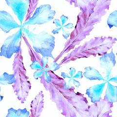 Watercolor tropical pattern.