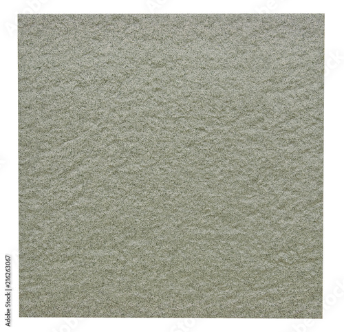 Rugged Ceramic Floor Tile In Green Isolated On White With Clipping Path