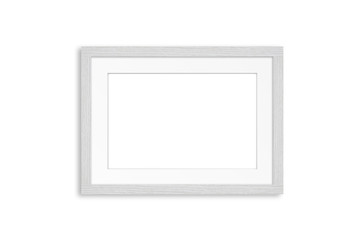White wooden frame mock up. Home, office, studio or gallery interior decoration
