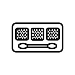 Makeup icon vector icon. Simple element illustration. Makeup symbol design. Can be used for web and mobile.