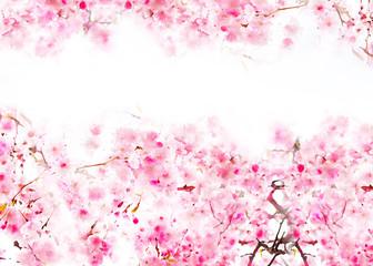 Flower textile design cherry blossom