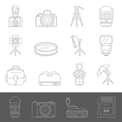 Line Icons - Photography Equipment