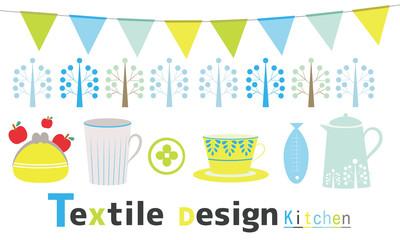 Textile design kitchen Scandinavian design