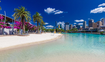 Photo sur Aluminium Océanie Streets Beach in South Bank Parkland, Brisbane, Australia
