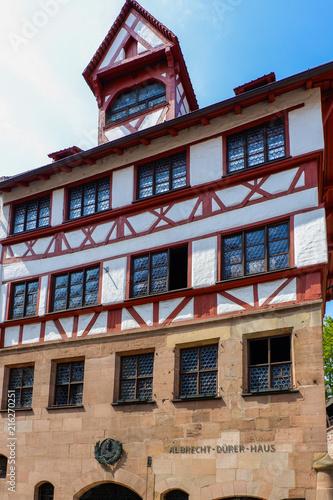 Am Albrecht Dürer Haus in Nürnberg\