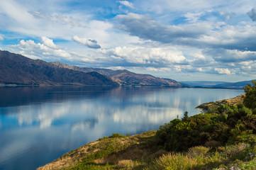 Aussichtspunkt am Lake Hawea 1; Wanaka, Neuseeland