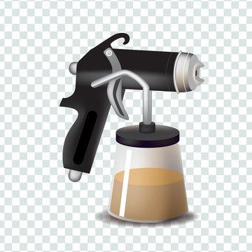 Vector tanning spray machine illustration
