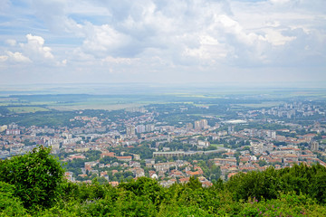 Panorama of the city of Shumen from a bird's eye view 8