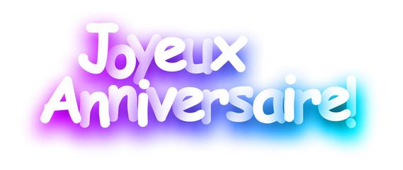 Purple spectrum Happy Birthday paper card.