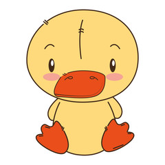 cute and adorable duck character