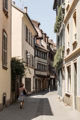 Ruelle typique dans la ville de Strasbourg