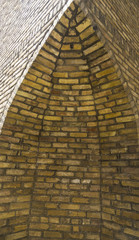 wall of the old fortress: the corner of the brick building