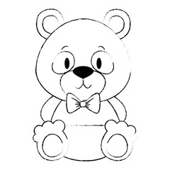 cute and adorable bear teddy character