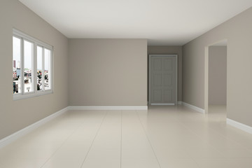 Empty room interior 3d rendering