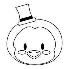 cute and adorable penguin character