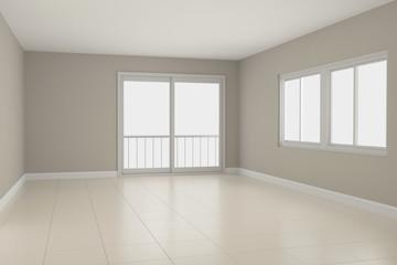 Empty room interior 3d rendering