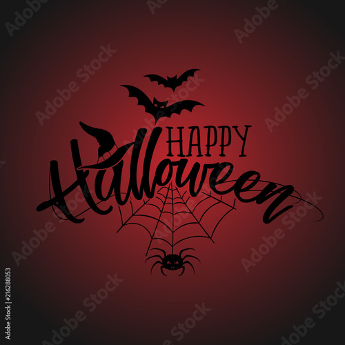 Halloween Quote.Happy Halloween Halloween Quote On Bloody Background Good