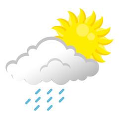 summer sun with rain