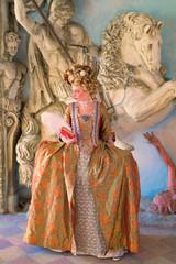 Ragazza con Vestiti Rinascimentali 1600 Libro