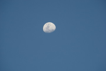 céu, lua, azul