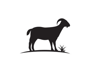 Goat Logo Template vector icon