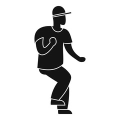 Hip hop dancer icon. Simple illustration of hip hop dancer vector icon for web design isolated on white background