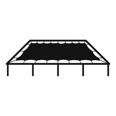 Big trampoline icon. Simple illustration of big trampoline vector icon for web design isolated on white background