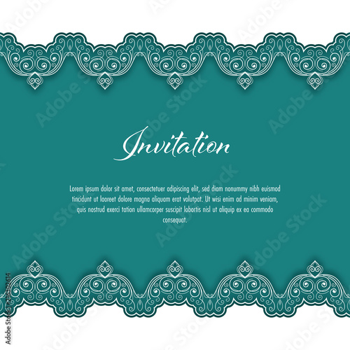Vintage background with lace border for greeting card or wedding vintage background with lace border for greeting card or wedding invitation vector illustration stopboris Choice Image