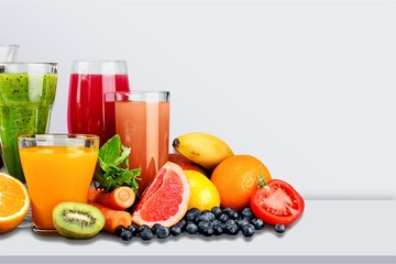 Printed roller blinds Juice Tasty fruits and juice with vitamins