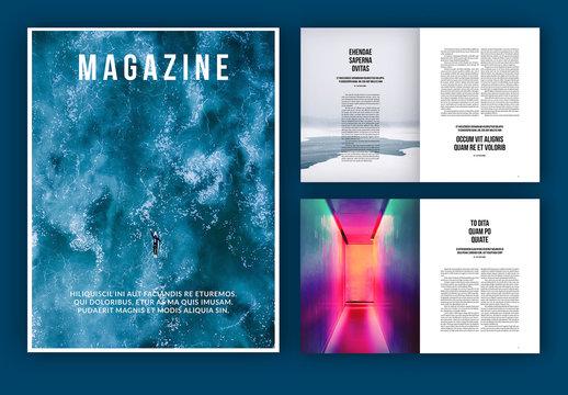 Two-Column Magazine Layout