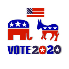 USA election vote 2020 design icon