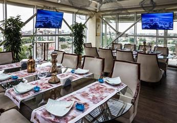 Odessa, Ukraine: Interior of restaurant