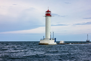 Photo sur Aluminium Phare Lighthouse Vorontsov sea view, Odessa, Ukraine.