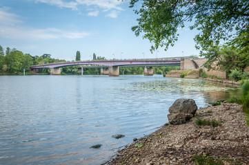 Quais de Saône entre Lyon et Caluire