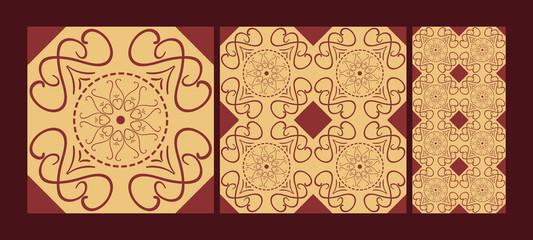 Ceramic tiles with ethnic florals
