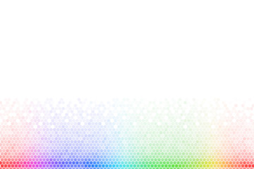 Abstract Rainbow Hexagon Mosaic Background