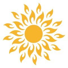 Sonne icon tribal als Vektor auf einem isolierten Hintergrund
