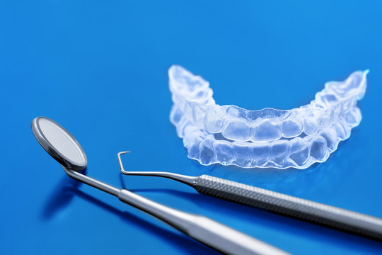Invisible dental teeth brackets tooth aligners - Invisalign -