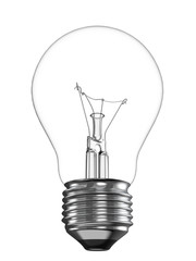Electric Light Bulb Isolated on White Background