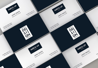 Repeating Business Cards Mockup