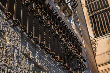 Railings in a Mdina